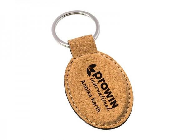 Kork Schlüsselanhänger Oval Personalisiert